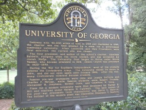 University of Georgia, Historical Marker, Web dpi, 7-29-2015