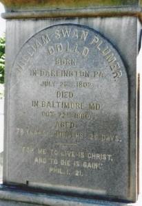 W. S. Plumer, Hollywood Cemetery, Richmond, Inscription Panel, 8-19-2015
