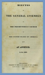 1837 Assembly Minutes, PCUSA, Title Page, Web dpi, 8-21-2015