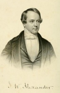 James W. Alexander, Frontispiece from Vol. 1 of his Memoirs by Hall, 7-28-2015