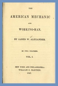 Title Page, J. W. Alexander, Vol. 1, American Mechanic, 9-3-2015