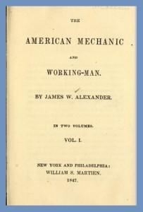 Title Page, J. W. Alexander, Vol. 1, American Mechanic, 9-3-2015
