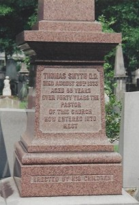 Thomas Smyth Grave Inscription Close Up, 100 dpi, 11-12-12