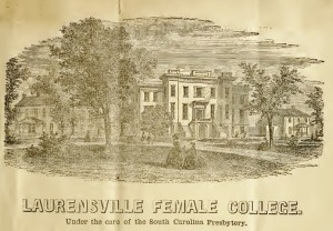 Laurens Women's College, circa 1858, Drawing, 8-28-2015