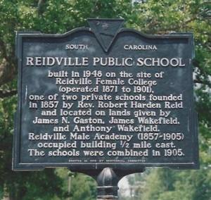 Reidville SC Historical Sign, 5-29-12