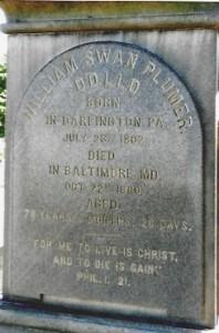 Side A, Plumer Grave Inscription, 12-5-12
