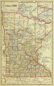Minnesota, Appletons Atlas, 1888, 5-24-2016