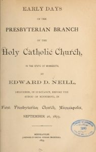 Presbyterian Branch Holy Catholic Church in Minnesota, First PC, Minneapolis History, 5-24-2016