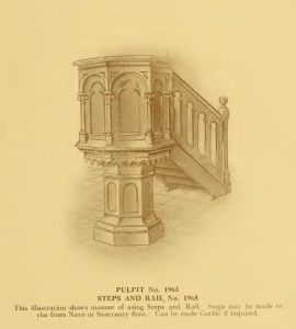 Pulpit No. 2 From Old Catalog, 8-26-2015