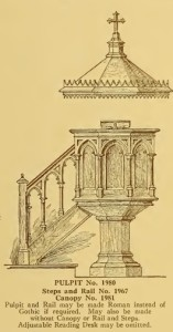 Pulpit No. 3 From Old Catalog, 8-26-2015