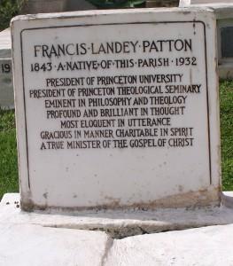 Francis L. Patton, Grave Marker, Bermuda, 9-4-2015