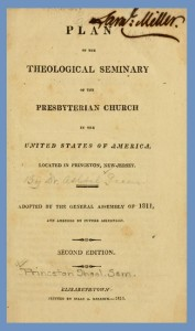 Title Page, Plan of PTS, 2nd ed., 1816, 9-9-2015