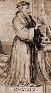 John Calvin, Standing, Woodcut, 10-22-2015