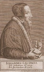 John Calvin, Woodcut, 10-22-2015
