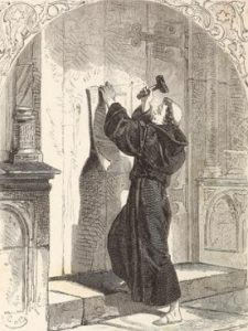 Luther Nailing 95 Theses to Door, 10-19-2015