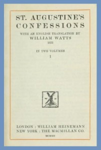 Title Page, Augustines Confessions, Watts Edition, 9-30-2015
