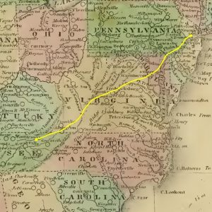 Map, Section Eastern US, circa 1811-1829, Cropped For in Article, 11-24-2015 (2)