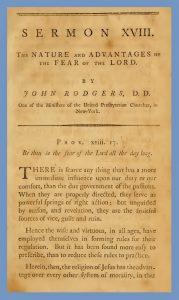 John Rodgers, Sermon, Prov. 18-17, American Preacher, Vol. 1, 1791, 12-16-2015
