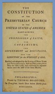 Title Page of Constitution PCUSA, First Edition, 1789, 12-16-2015