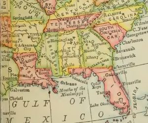 Map of South, 1906, 1-6-2016