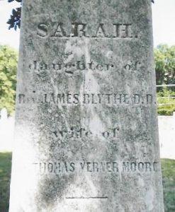 Sarah Moore, Inscription, Shockoe Hill, 1-27-2016 001