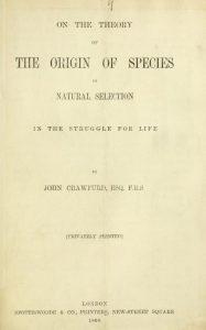 Darwin, Origin, Title Page, 4-21-2016