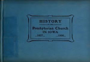 Cover, History PC, Iowa, 1900, 5-30-2016