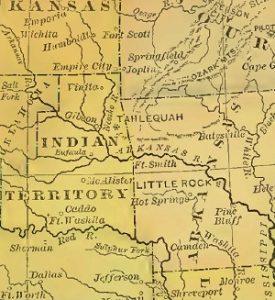 Indian Territory, OK, circa 1892, 5-18-2016