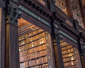Trinity College Library, Dublin, Stacks, Cropped for Website, 5-27-2016