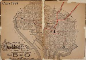 Map, Washington DC, c 1888, 6-16-2016
