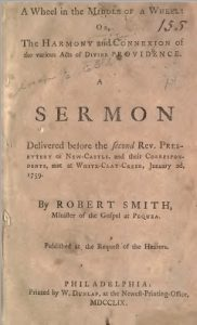 Robert Smith Sermon, 1759, Cover, Bruised Reed, 7-1-2016