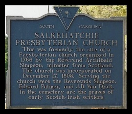 Salkehatchie Presbyterian Church Site, SC, Historical Marker, 8