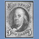 Thumbnail, US Stamp, Ben Franklin, 1st Postmaster, 8-30-2016
