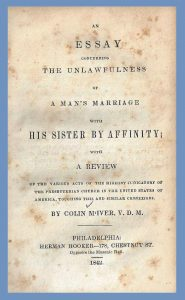 Title Page, Colin McIver, Sister by Affinity, 1842, 8-24-2016