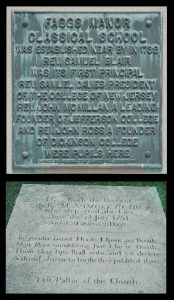 composite-of-faggs-manor-school-plaque-and-samuel-blair-grave-9-22-2016
